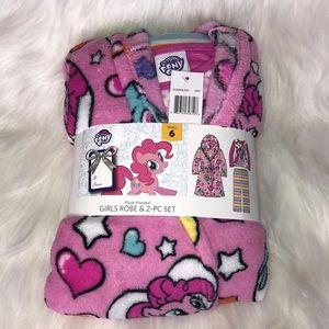 My little pony robe + 2 piece set size 6